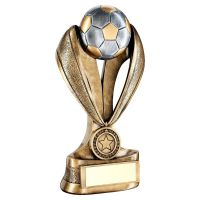 Football Boot On Stars With Net Base Trophy Award 7.75in FREE Engraving